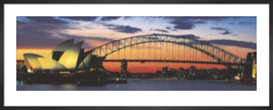 Opera House and Harbour Bridge, Sydney by Mark Segal
