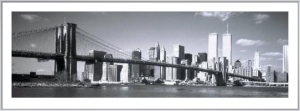 Hudson River and Brooklyn Bridge, New York by Jeff Lepore