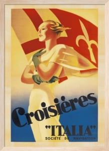 Crosieres Italia, c.1938 by Marcello Dudovich