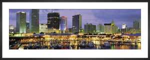 Miami Skyline and Marina at Dusk by Nigel Atherton