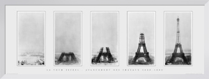 Eiffel Tower - Stages of Construction, 1888-89 by B & W Collection
