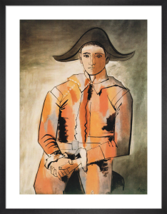 Harlequin with Folded Hands by Pablo Picasso