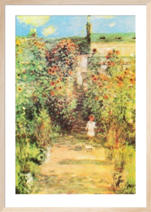 Monet's Garden at Vetheuil by Claude Monet