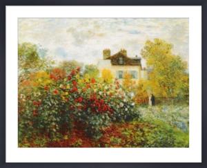 The Artist's Garden in Argenteuil by Claude Monet