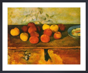 Apples and Biscuit by Paul Cezanne