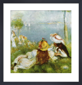 Girls by the Sea, 1895 by Pierre Auguste Renoir