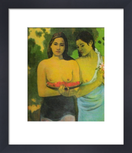 Two Tahitian Girls by Paul Gauguin