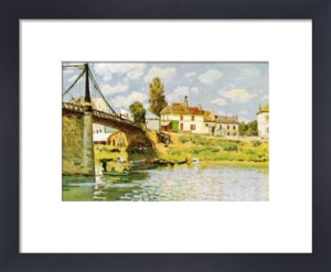 Bridge at Villeneuve-la-Garenne by Alfred Sisley