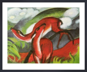The Red Deer by Franz Marc