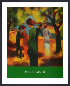 Woman in a Green Jacket by August Macke