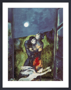 Lovers in the Moonlight by Marc Chagall