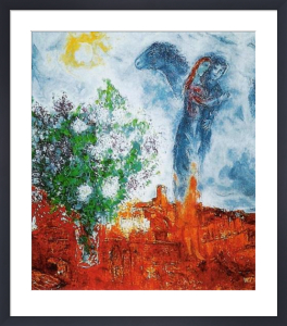 Couple au dessus de St. Paul by Marc Chagall