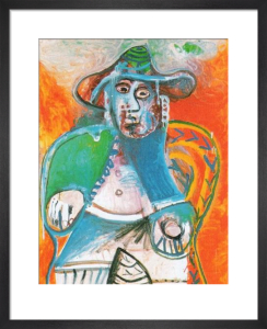 Vieil Homme Assis, Mougins 1970 by Pablo Picasso
