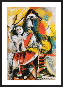 Musketeer and Cupid by Pablo Picasso