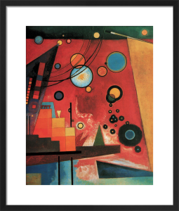 Schweres Rot by Wassily Kandinsky