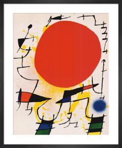 Le Soleil Rouge by Joan Miro