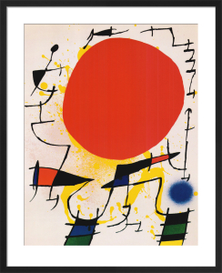 Le Soleil Rouge by Joan Miro
