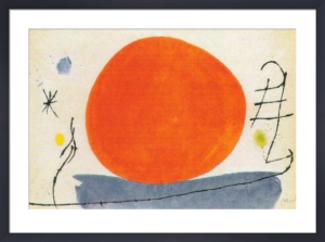 Untitled (Sole Rosso), 1967 by Joan Miro