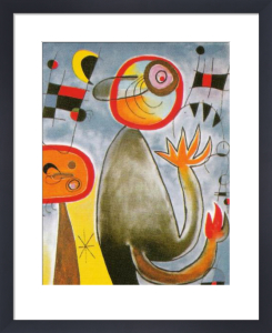Les Echelles en Roue de Feu Traversent l'Azur, 1953 by Joan Miro