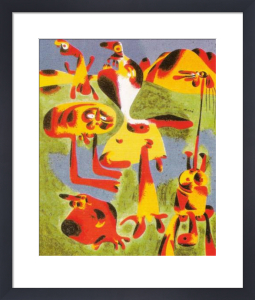 The singing fish art print by joan miro king mcgaw for Joan miro interieur hollandais