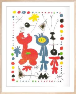 Personnage et Oiseaux by Joan Miro