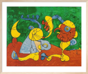 Adlige in der Fallgrube by Joan Miro
