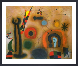Dragonfly with Red Wings chasing a Snake by Joan Miro