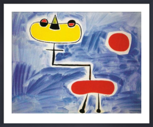 Figure against Red Sun by Joan Miro