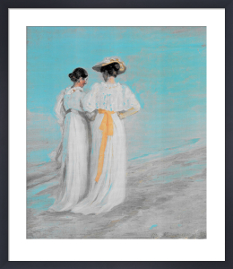 Two Ladies on the Beach by Michael Peter Ancher