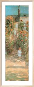 Monet's Garden at Vetheuil (detail) by Claude Monet