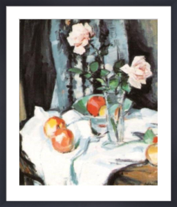 Still Life with Roses in a Glass Vase by Samuel John Peploe