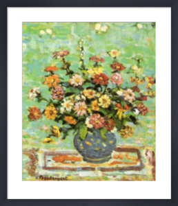 Flowers in a Blue Vase by Maurice Prendergast