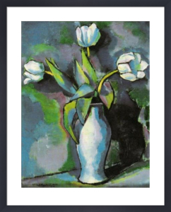Three White Tulips by Charles Sheeler