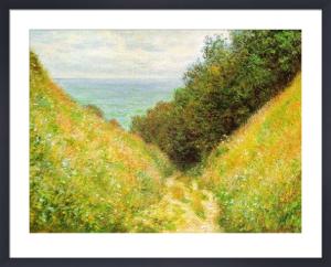 Road at la Cavée, Pourville by Claude Monet