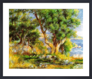 Landscape on the Coast, near Menton by Pierre Auguste Renoir