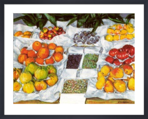 Fruit Displayed on a Stand by Gustave Caillebotte