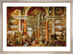 Picture Gallery with Views of Modern Rome by Giovanni Paolo Panini