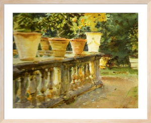 Villa di Marlia, The Balustrade by John Singer Sargent