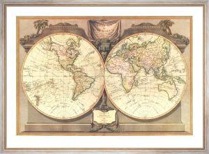 New Map Of The World, 1794 by Anonymous