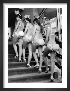 Bunny girls at London's Playboy Club by Mirrorpix