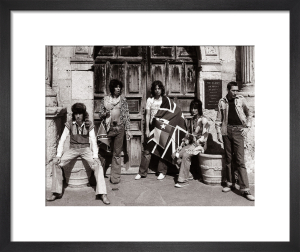 Rolling Stones outside The Alamo in Texas, 1975 by Mirrorpix
