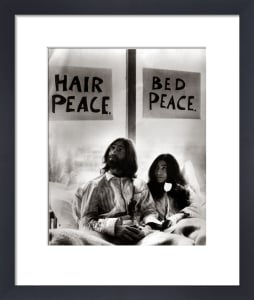 John Lennon in bed with Yoko Ono by Mirrorpix