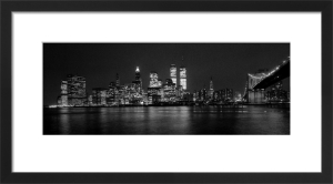 New York skyline at night by Mirrorpix