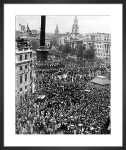 V J Day - Trafalgar Square, 1945 by Mirrorpix
