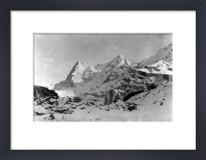 View of the three famous mountains Eiger, Monch and Jungfrau by Mirrorpix