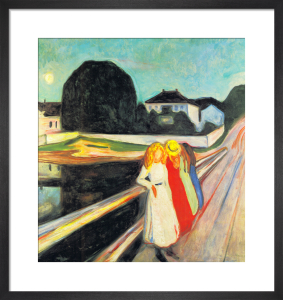 Four Girls on a Bridge (small) by Edvard Munch