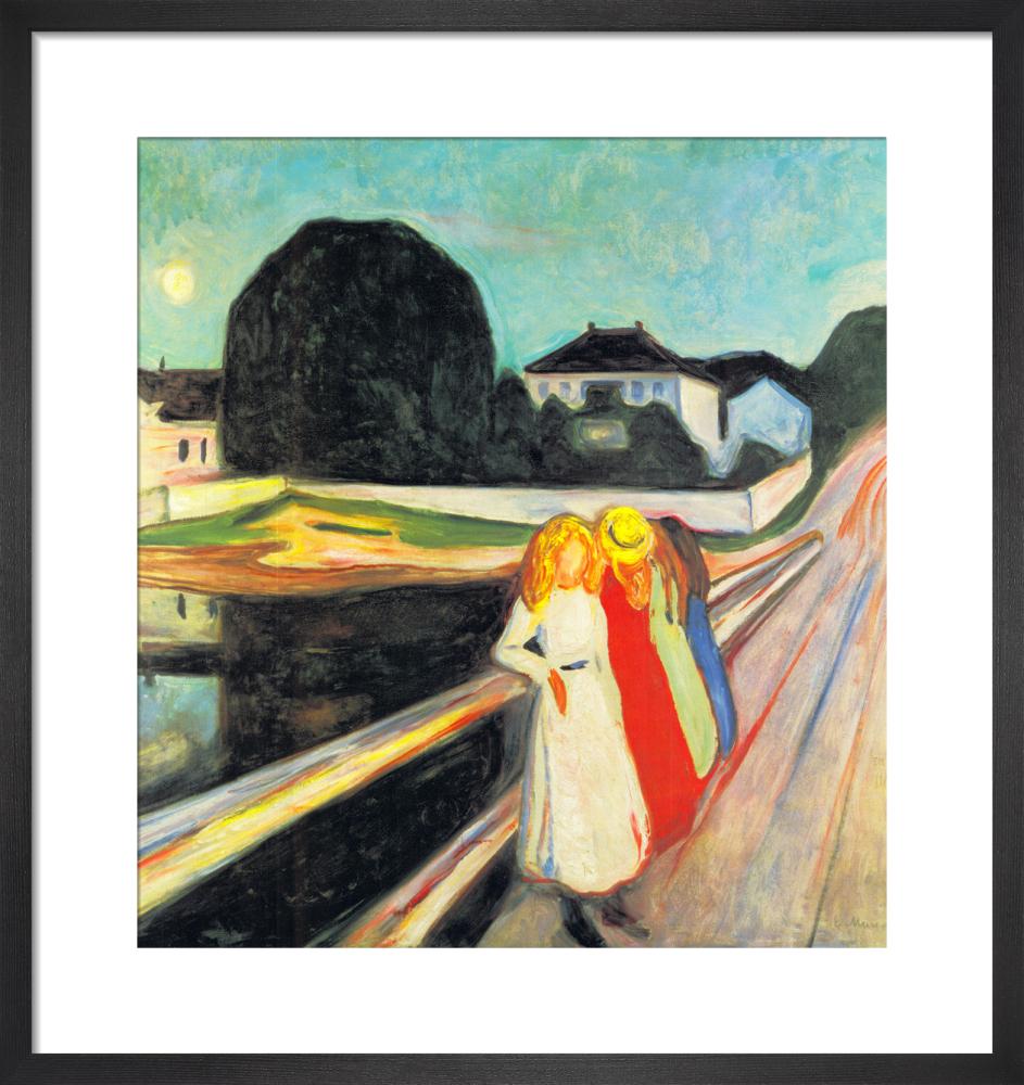 Four Girls on a Bridge (small) by Edvard Munch