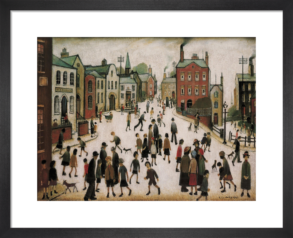 f2d55df191d A Village Square Art Print by L S Lowry