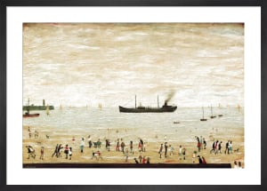 Waiting for the tide by L S Lowry