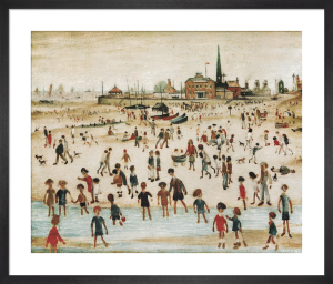 At the Seaside by L S Lowry